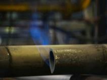熱処理中の鋼管の写真